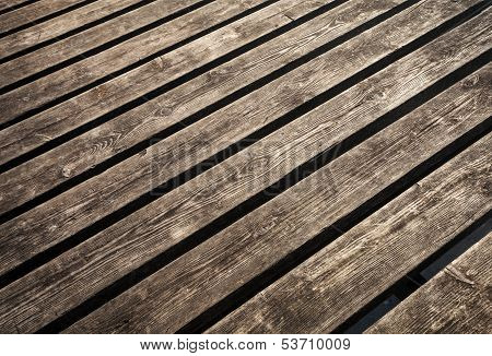 Uncolored Weathered Brown Wooden Lining Boards Background Texture