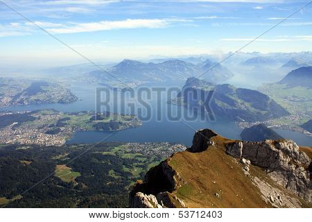 Swiss mountains and lakes