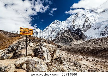 Mount Everest Signpost
