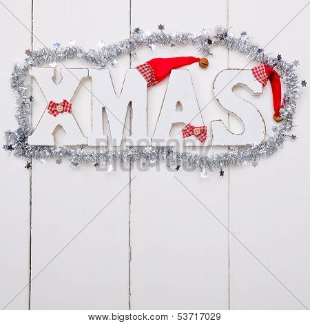 Shabby Wooden Christmas Background