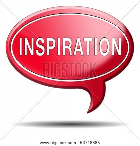 inspiration get inspired be creative create and invent brainstorm and inspire button or icon with text and word search and find inspirations