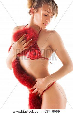 naked woman in a bikini