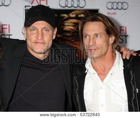 LOS ANGELES - NOV 9:  Woody Harrelson, Brett Harrelson at the AFI FEST 2013 Presented By Audi -