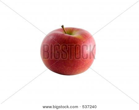 Isolated Braeburn Apple With Clipping Path