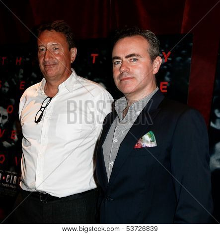 NEW YORK-AUG 19: Screenwriter Steven Knight (L) and director John Crowley attend the 'Closed Circuit' screening at the Tribeca Grand Hotel on August 19, 2013 in New York City.