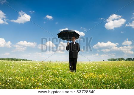 The Person With An Umbrella