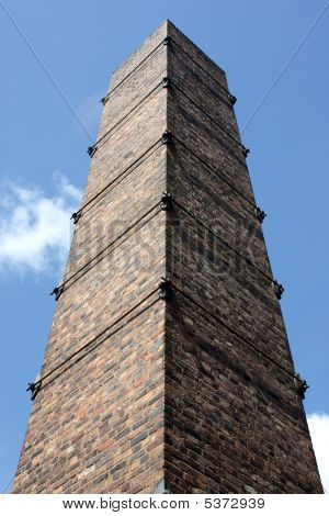 Single Old Fashioned Brick Victorian Chimney