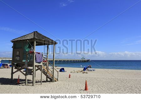 Lifeguard Tower 2 And Pier