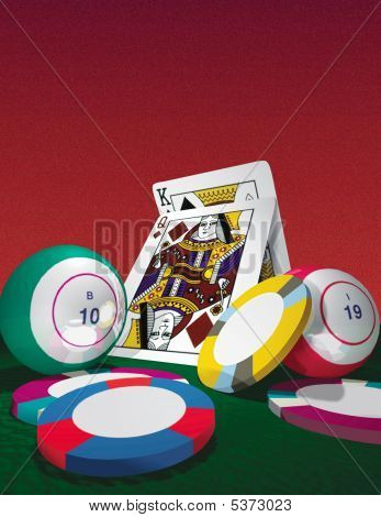 Cards And Bingo Bals