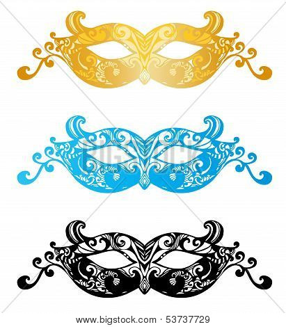 Fashion carnival mask illustration