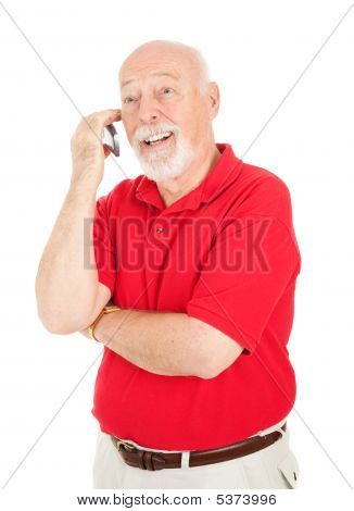 Senior Man - On Cellphone