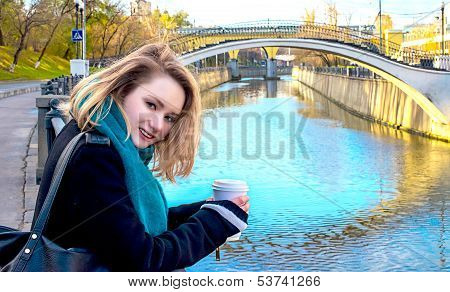 woman at the bridge