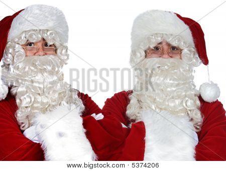 Two Santa Claus