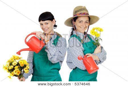 Two Woman Dressed Gardener