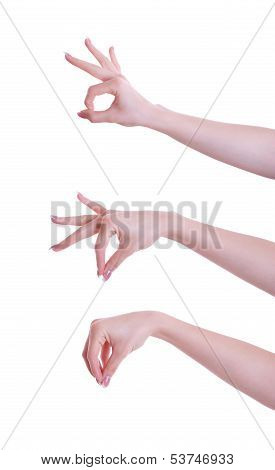 Three Hand Positions