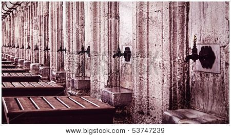 washbasins in Mosques