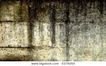 Grunge Stained Wall Background