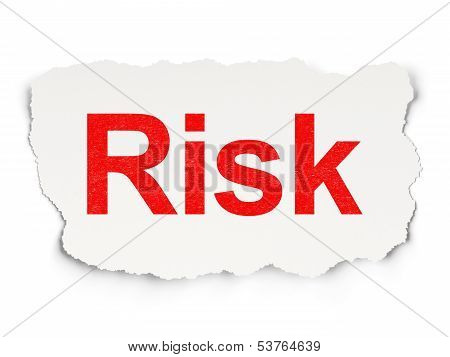 Business concept: Risk on Paper background