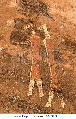 Bushmen (san) rock painting, Drakensberg mountains, South Africa