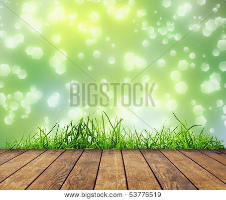 wood textured backgrounds in a room interior on the sky field backgrounds