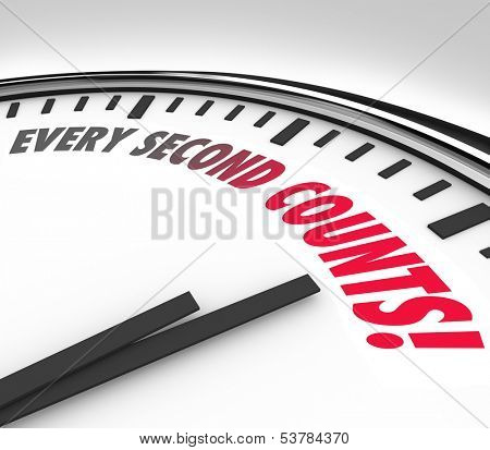 Every Second Counts Countdown Clock