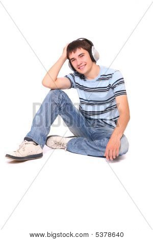 Man Is Listening To The Music
