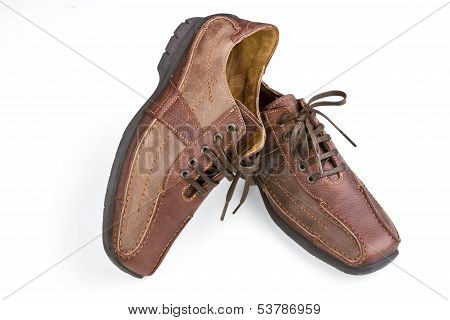 Brown Leather Man's Shoes