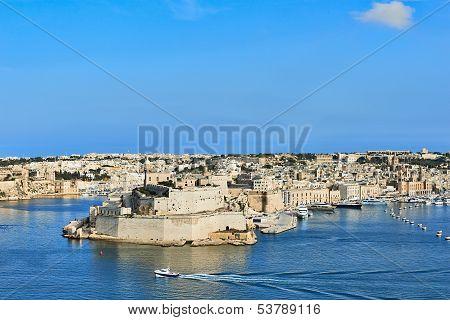 Grand Harbor In Valetta, Malta