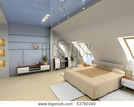 modern bedroom interior design (computer - generated image)