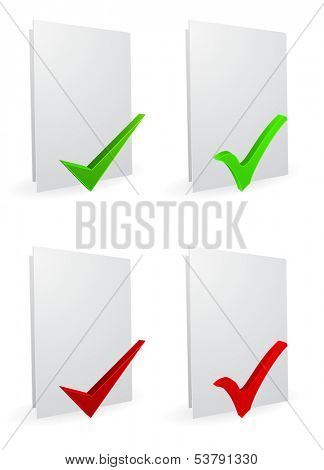 folder white with checkmark 3d