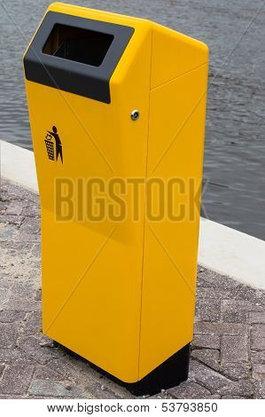 New Yellow Bin For Waste To Throw In