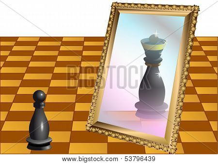 Chess Pawn As The Queen