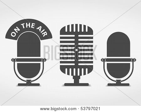 Microphone Icons poster