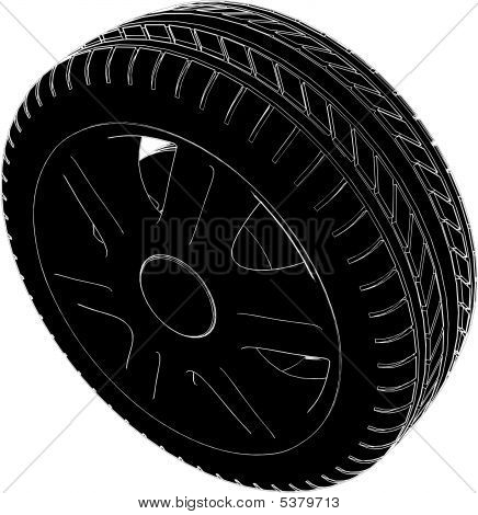 Car Weel Tire Vector