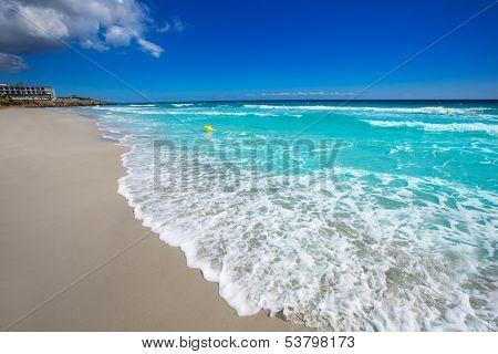 Menorca Platja Sant Tomas in Es Mitjorn Gran at Balearic islands of Spain