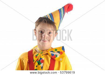 Smiling Clown Boy