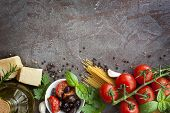 foto of slating  - Italian food background - JPG