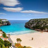 pic of porter  - Cala en Porter beautiful beach in menorca at Balearic islands of spain - JPG