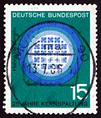 Postage Stamp Germany 1964 Reactor In Operation