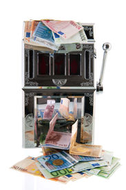 picture of poker machine  - Slot machine with European currency - JPG