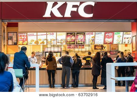 People Buying Kentucky Fried Chicken