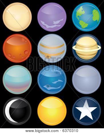 Astronomy Icon Set