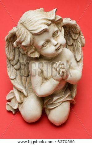 Praying Angel Looking Sideways