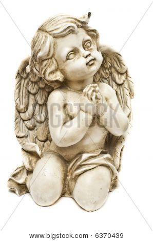 Clay Angel Praying Towards God