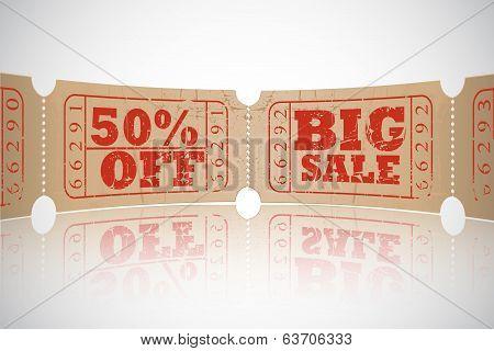vintage paper sale ticket design