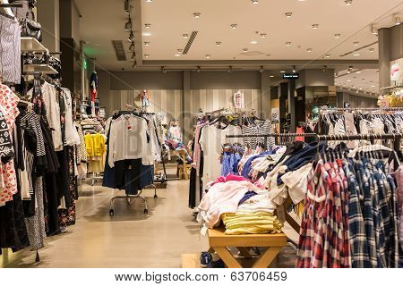 Fashion Clothes Store In Shopping Mall