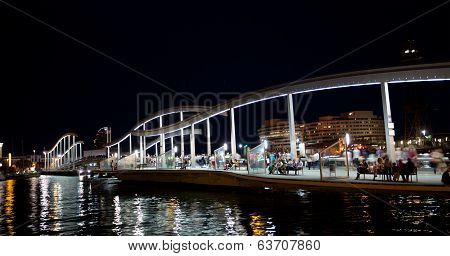 Marina Port Vell and the Rambla del Mar in Barcelona
