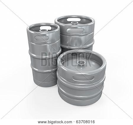 Metal Beer Kegs