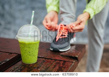 Detox Smoothie Before Running Workout
