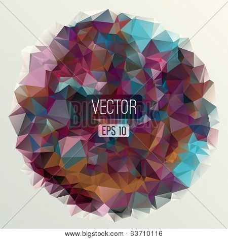 Abstract round triangles background for design